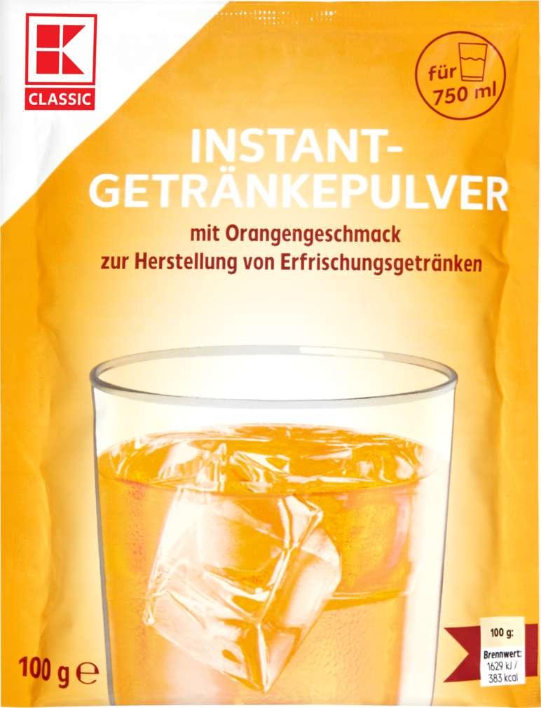 Abbildung des Sortimentsartikels K-Classic Flippy Instant-Getränkepulver mit Orangengeschmack 100g