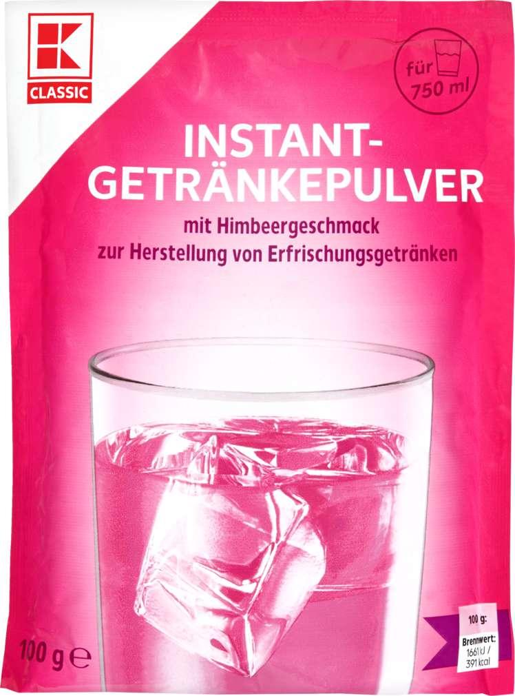 Abbildung des Sortimentsartikels K-Classic Flippy Instant-Getränkepulver Himbeer 100g