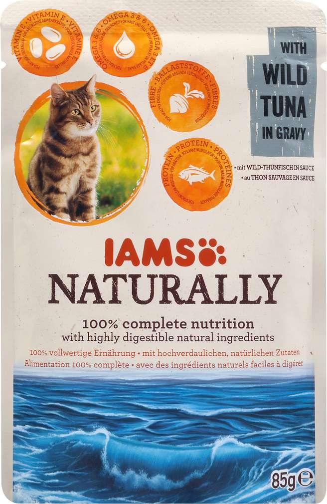 Abbildung des Sortimentsartikels IAMS Naturally mit Wild-Thunfisch in Sauce