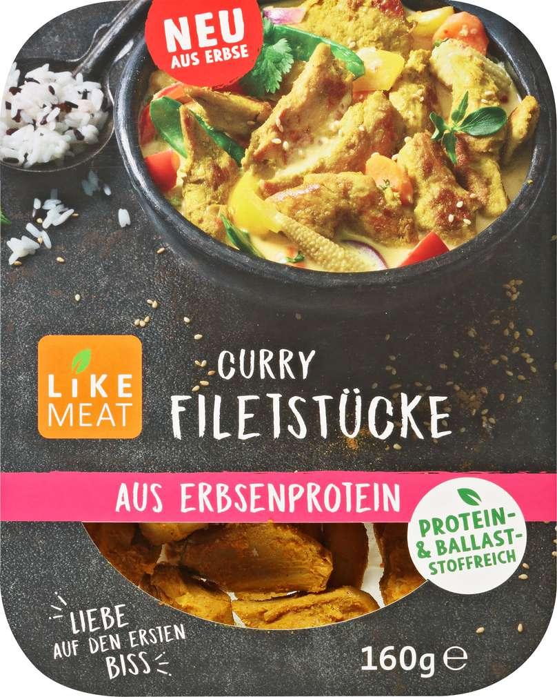 Abbildung des Sortimentsartikels Like Meat Bio-Filetstücke Curry 160g