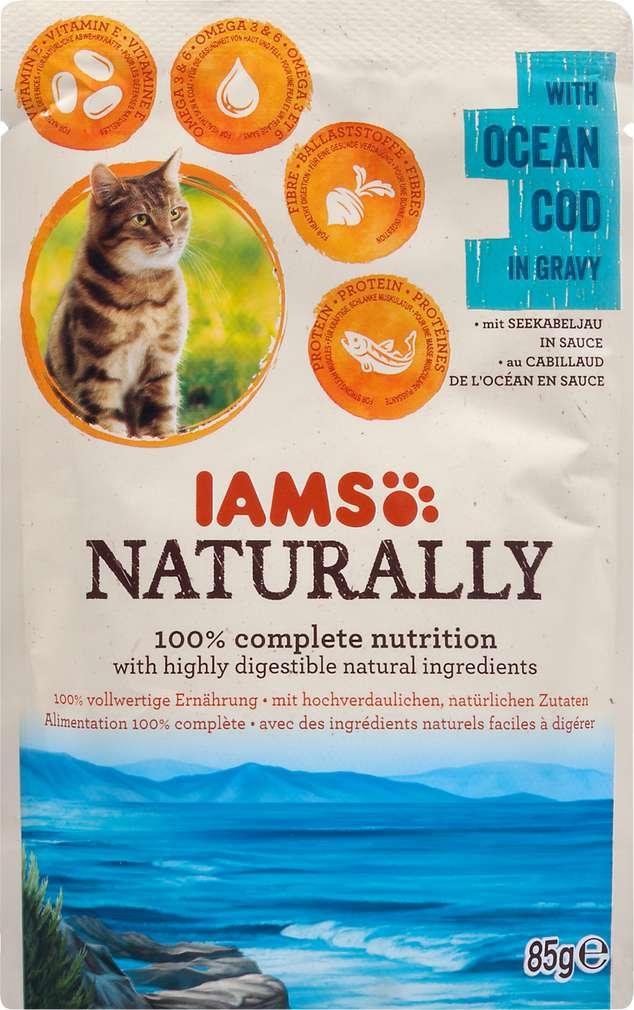 Abbildung des Sortimentsartikels IAMS Naturally mit Seekabeljau 85g