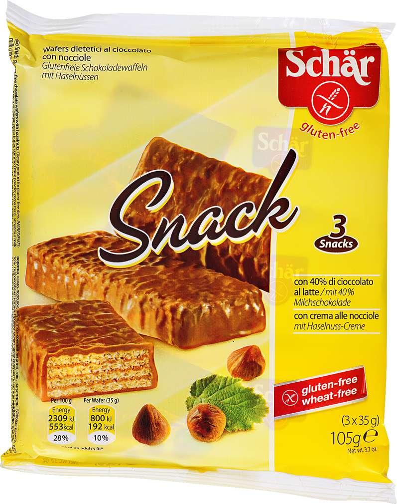 Abbildung des Sortimentsartikels Schär Snack Schokoladen-Riegel 105g, 3 Riegel