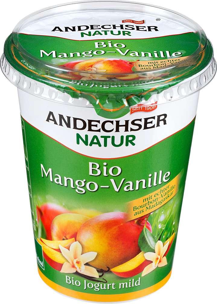 Abbildung des Sortimentsartikels Andechser Natur Bio Jogurt mild Mango-Vanille 400g