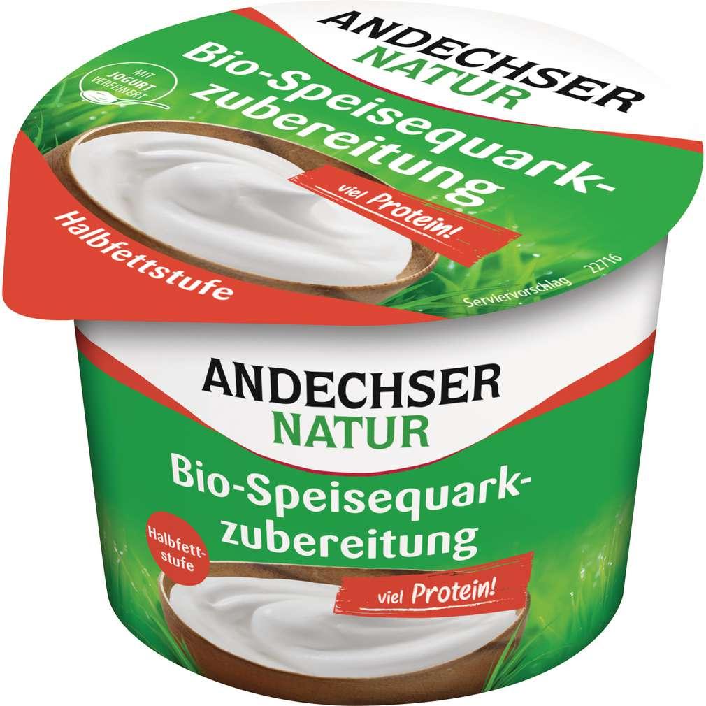 Abbildung des Sortimentsartikels Andechser Natur Bio-Speisequarkzubereitung Halbfettstufe 250g