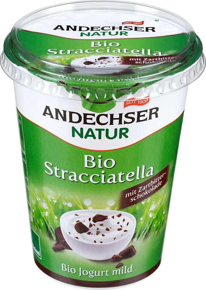 Abbildung des Sortimentsartikels Andechser Natur Bio-Jogurt mild Stracciatella 400g