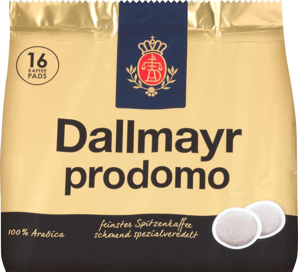 Abbildung des Sortimentsartikels Dallmayr Prodomo Pads 112g, 16 Stück
