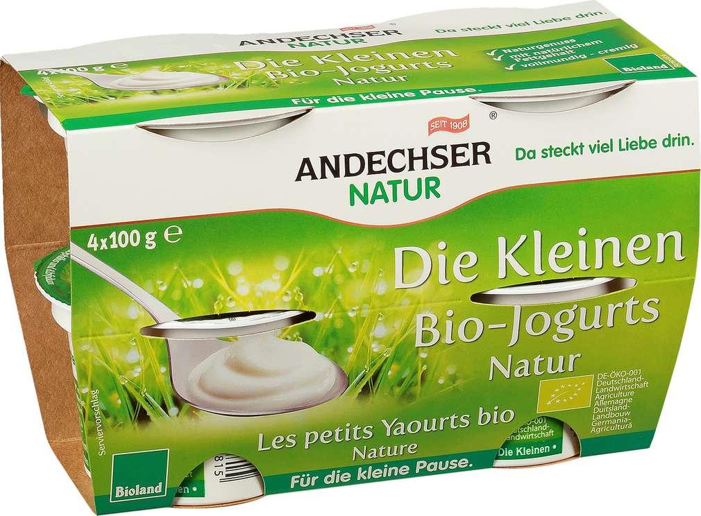 Abbildung des Sortimentsartikels Andechser Natur Die Kleinen Bio-Jogurts natur 4x100g