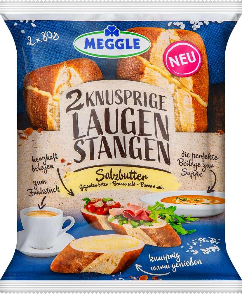 Abbildung des Sortimentsartikels Meggle Laugenstangen Salzbutter 2x80g