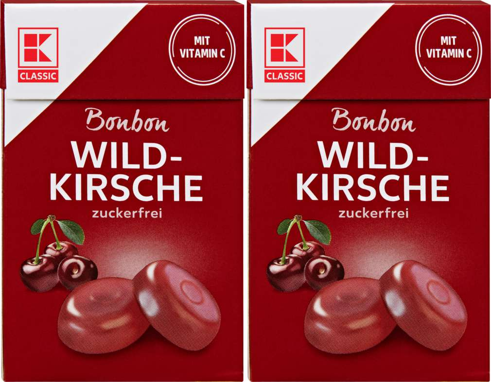 Abbildung des Sortimentsartikels K-Classic Wildkirsche Bonbons 2x44g