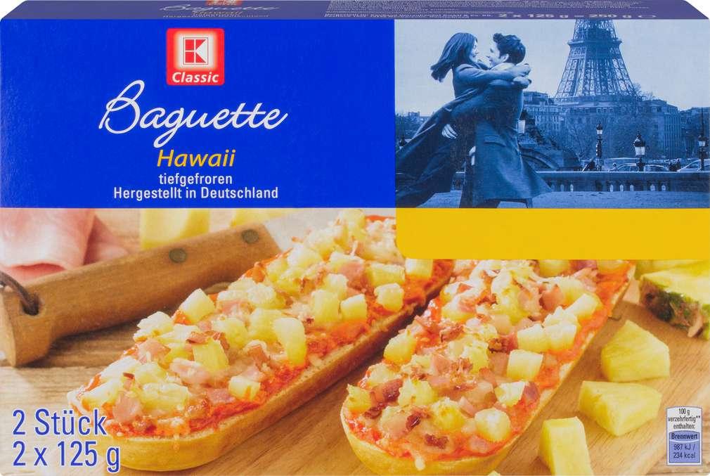 Abbildung des Sortimentsartikels K-Classic Baguette Hawaii  250g, 2 Stück