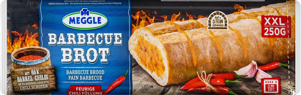 Abbildung des Sortimentsartikels Meggle Barbecue Brot Chili 250g