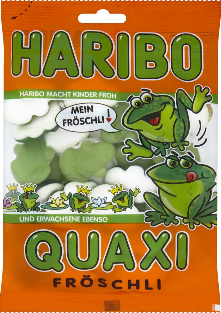 Abbildung des Sortimentsartikels Haribo Quaxi Fröschli 200g