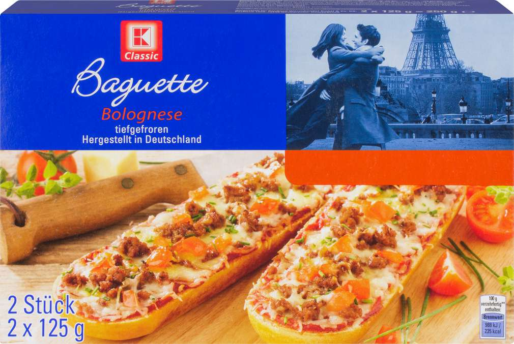 Abbildung des Sortimentsartikels K-Classic Baguette Bolognese 250g, 2 Stück