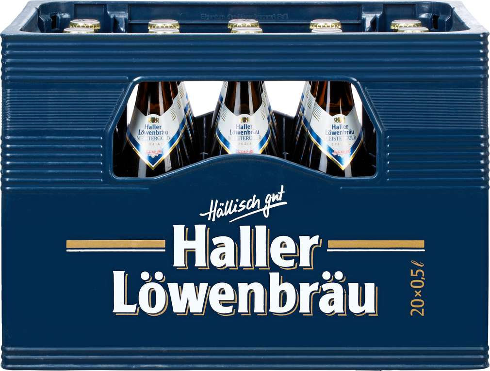 Abbildung des Sortimentsartikels Haller Löwenbräu Meistergold 20x0,5l