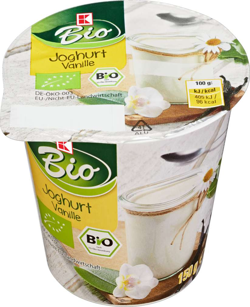Abbildung des Sortimentsartikels K-Bio Joghurt Vanille 150g