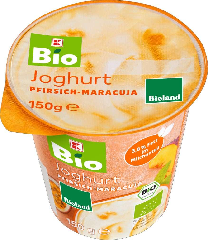 Abbildung des Sortimentsartikels K-Bio Joghurt Pfirsich-Maracuja 150g