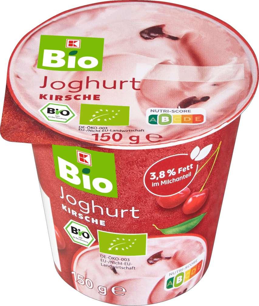 Abbildung des Sortimentsartikels K-Bio Joghurt Kirsche 150g