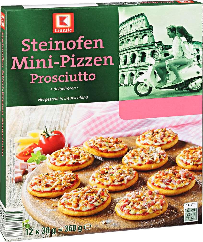 Abbildung des Sortimentsartikels K-Classic Mini-Pizzen Prosciutto 360g, 12 Stück