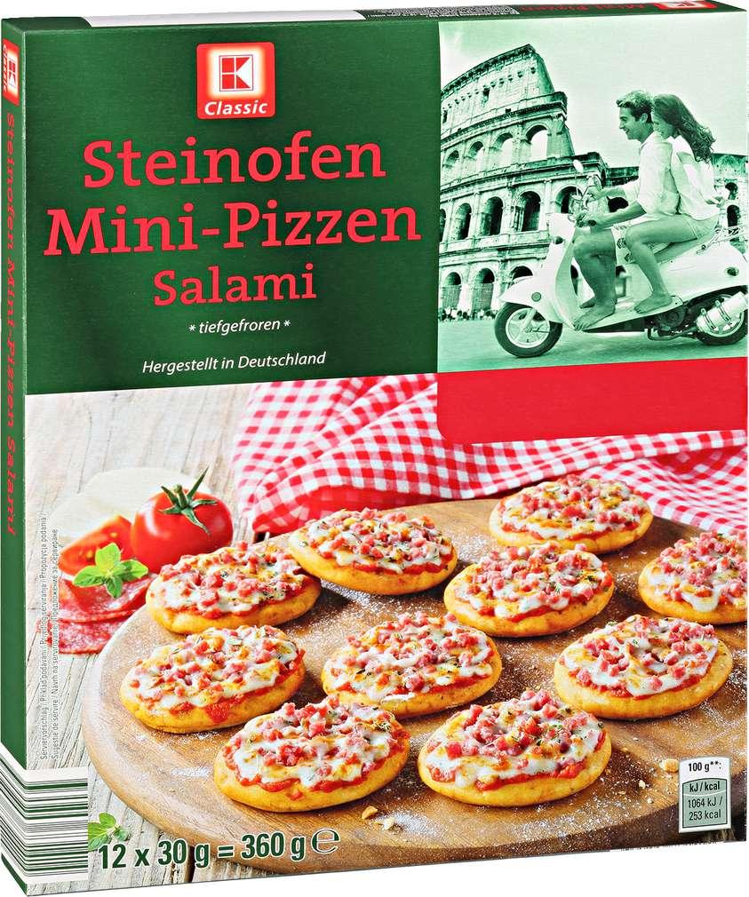 Abbildung des Sortimentsartikels K-Classic Mini-Pizzen Salami 360g, 12 Stück