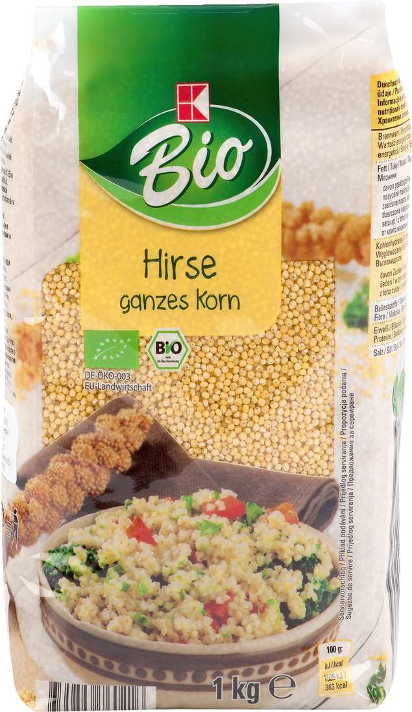 Abbildung des Sortimentsartikels K-Bio Hirse ganzes Korn 1000g