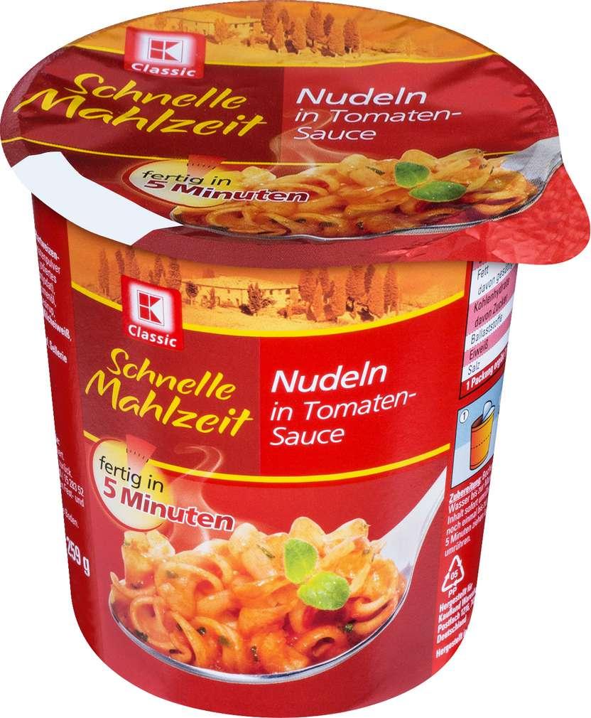 Abbildung des Sortimentsartikels K-Classic Schnelle Mahlzeit Nudeln in Tomatenauce 59g