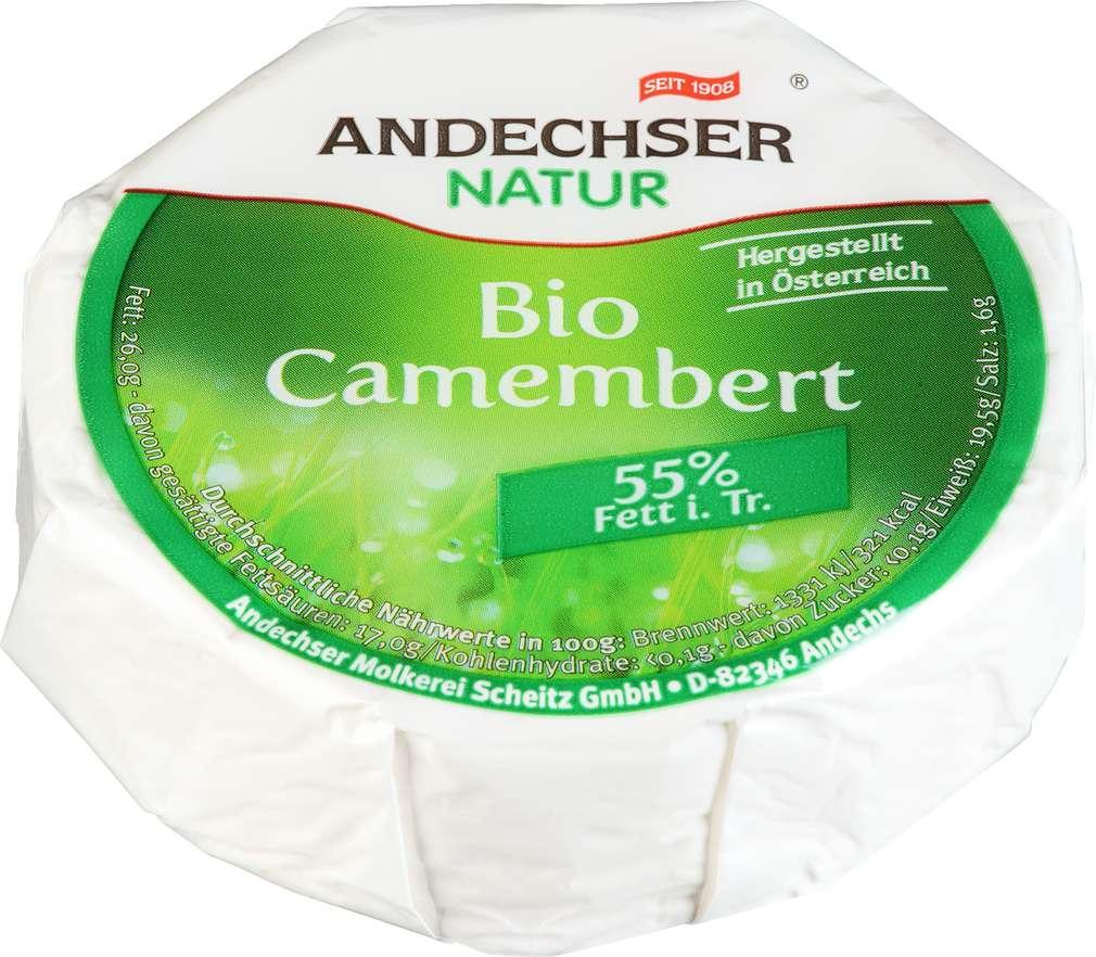 Abbildung des Sortimentsartikels Andechser Natur Bio Camembert 100g