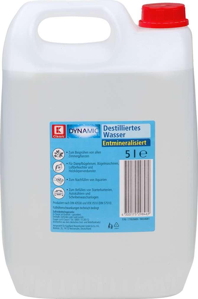 Abbildung des Sortimentsartikels K-Classic Destilliertes Wasser 5l