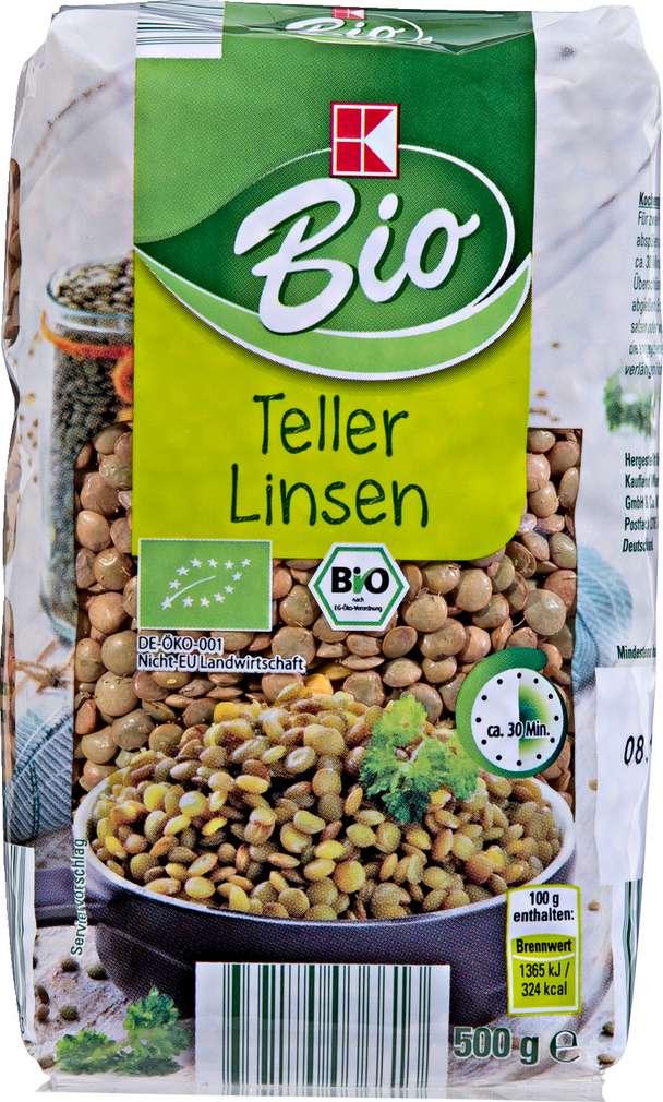 Abbildung des Sortimentsartikels K-Bio Teller Linsen 500g