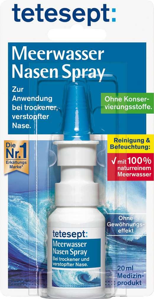 Abbildung des Sortimentsartikels Tetesept Meerwasser Nasen Spray 20ml