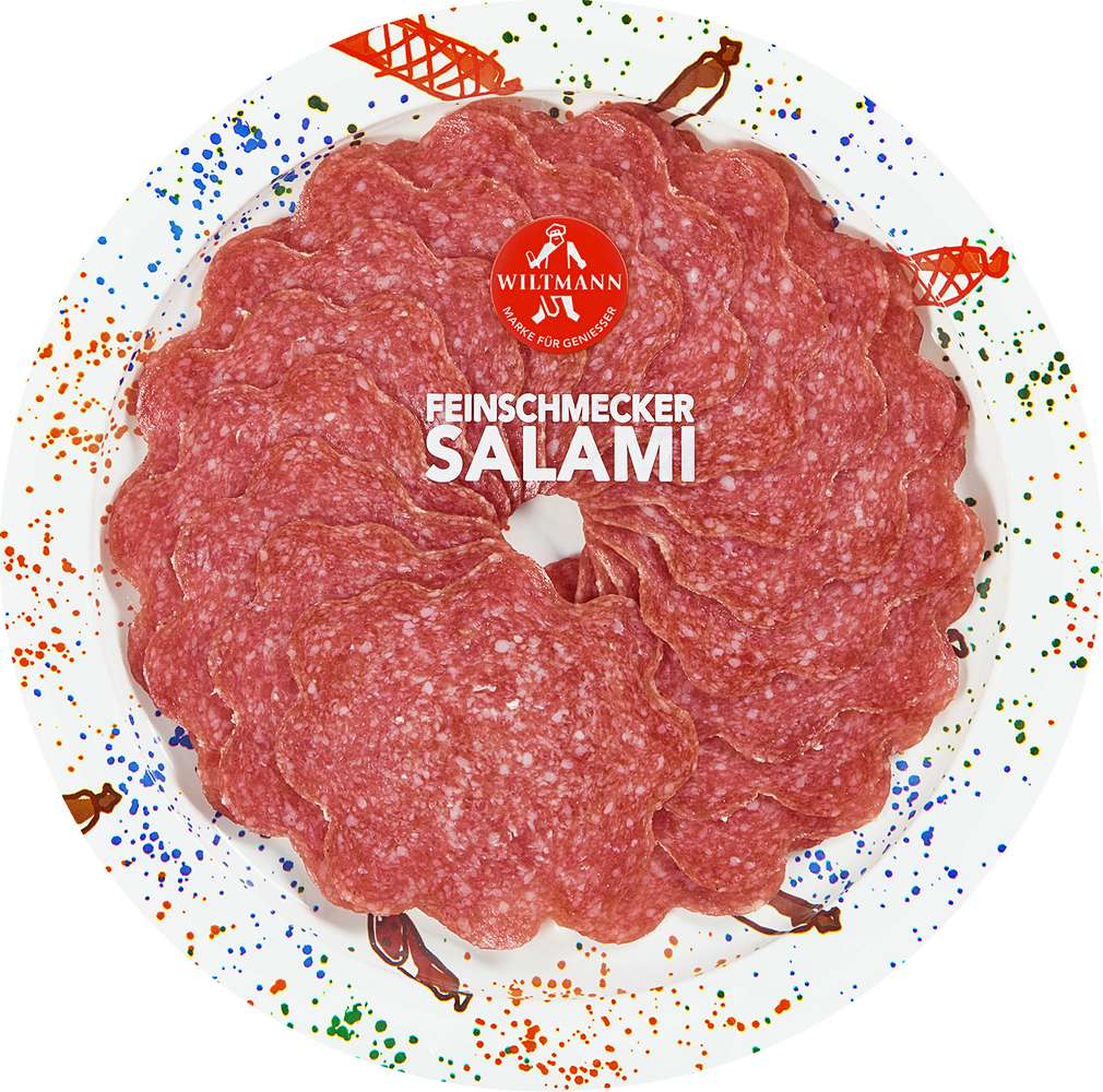 Abbildung des Sortimentsartikels Wiltmann Feinschmecker Salami 80g
