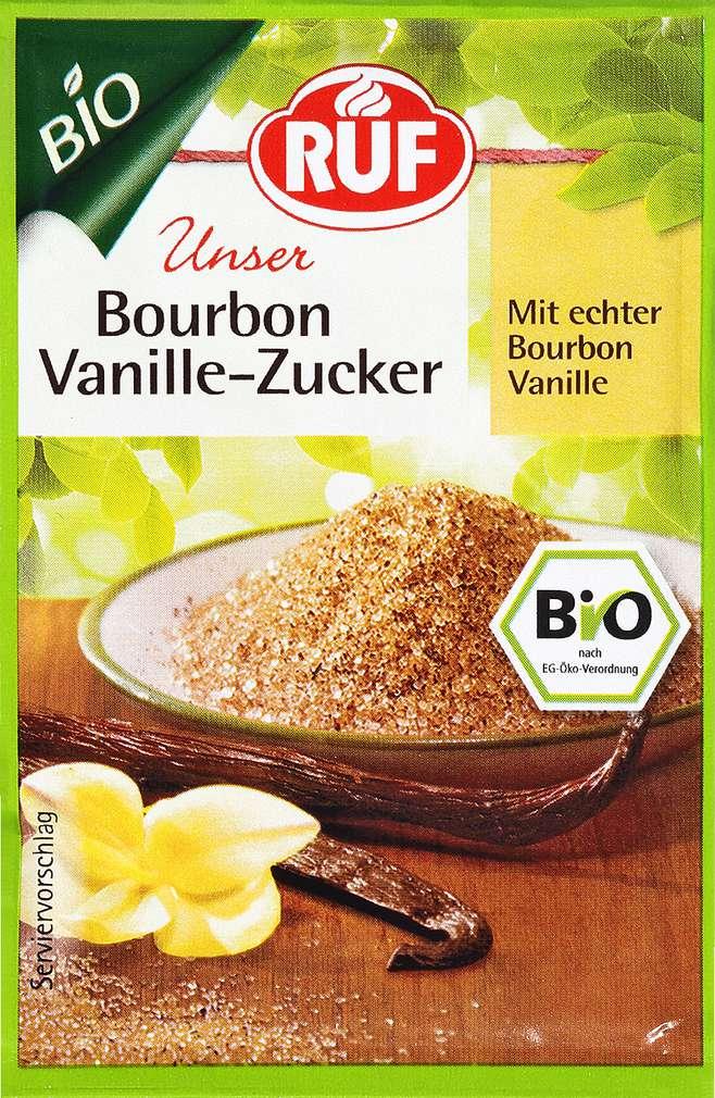 Abbildung des Sortimentsartikels Ruf Bourbon Vanille-Zucker Bio 3x8g
