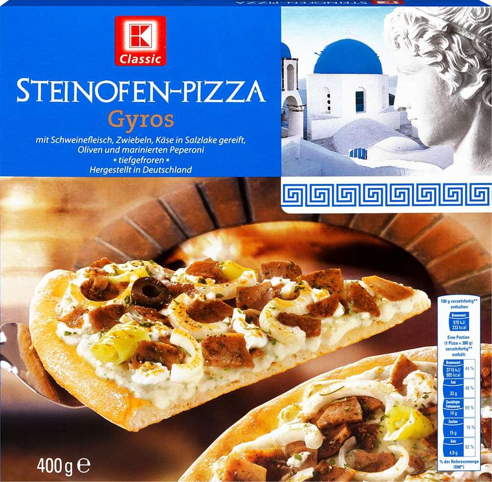 Abbildung des Sortimentsartikels K-Classic Steinofenpizza Gyros 400g