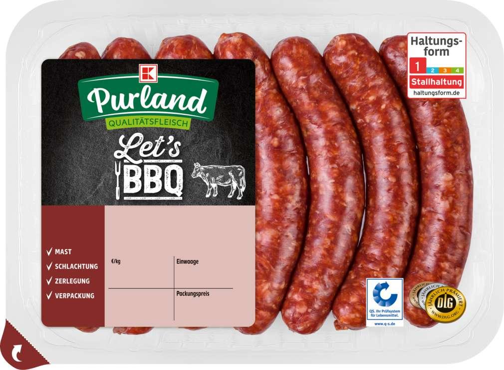 Abbildung des Sortimentsartikels K-Purland Merguez Bratwurst vom Simmentaler Rind 280g