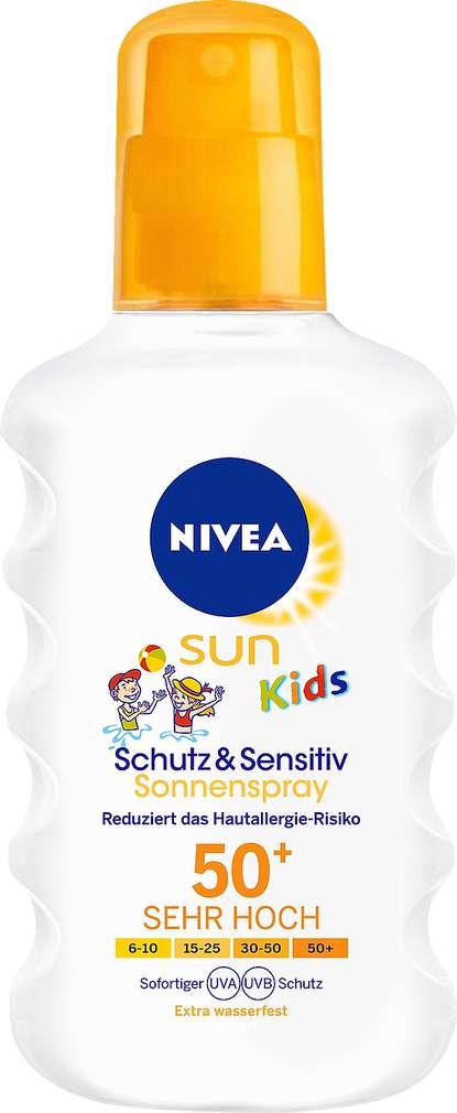 Abbildung des Sortimentsartikels Nivea Sun Kids Kids Sonnenschutz-Spray sensitiv LSF 50 200ml