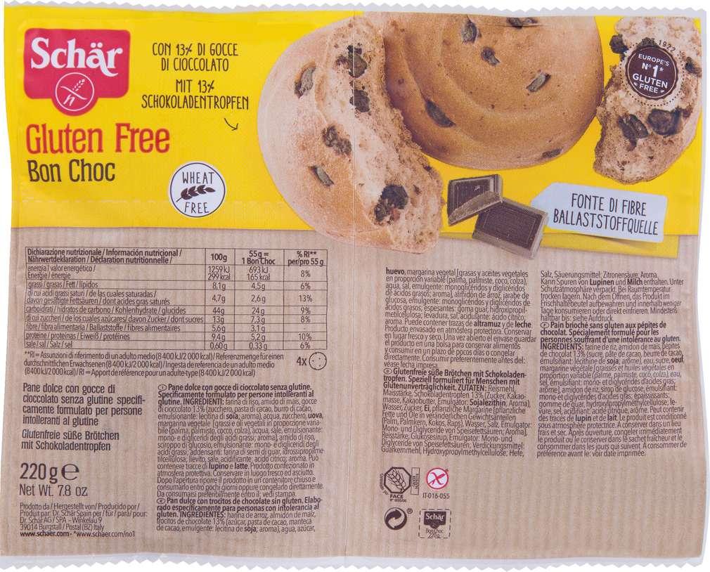 Abbildung des Sortimentsartikels Schär Bon Choc glutenfrei 220g