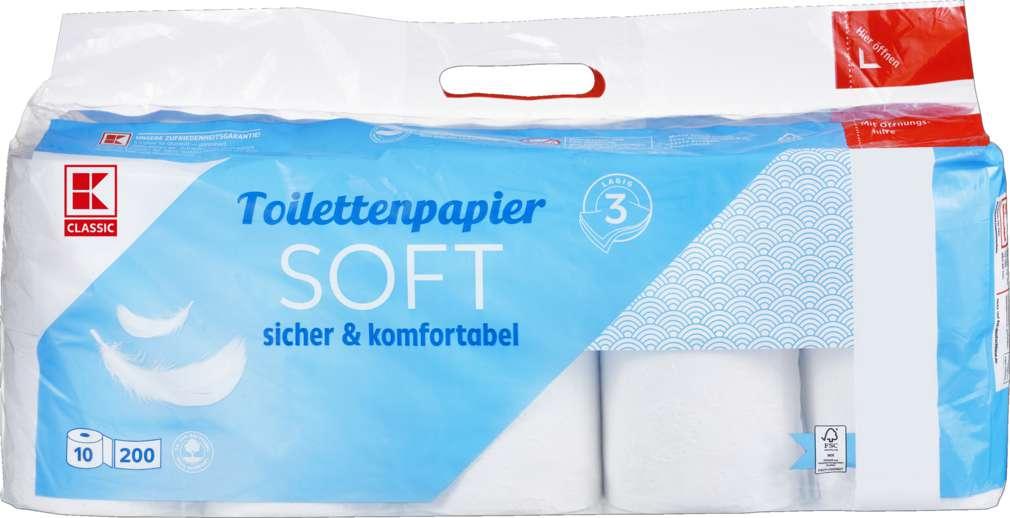 Abbildung des Sortimentsartikels K-Classic Toilettenpapier 3-lagig 10x200 Blatt