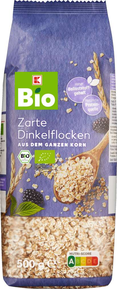 Abbildung des Sortimentsartikels K-Bio Dinkelflocken Kleinblatt 500g
