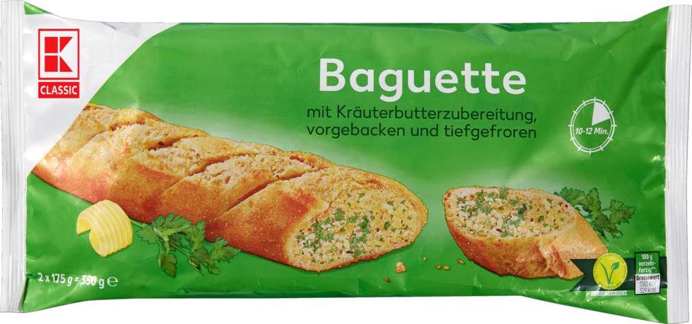Abbildung des Sortimentsartikels K-Classic Kräuterbaguette 350g, 2 Stück