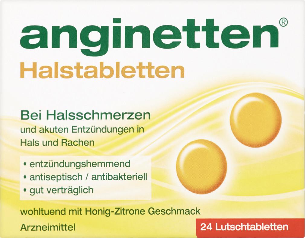Abbildung des Sortimentsartikels Anginetten Halstabletten 24 Stück
