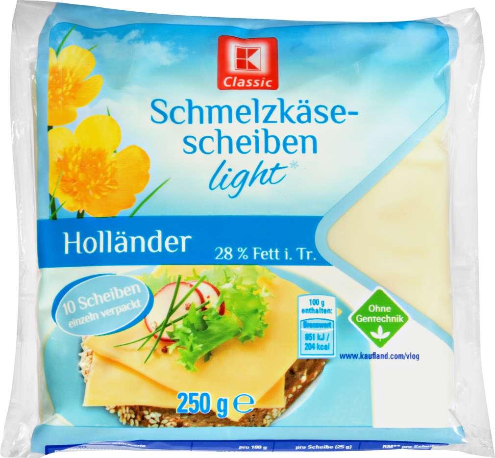 Abbildung des Sortimentsartikels K-Classic Schmelzkäse-Scheiben leicht,25%Fett i.Tr. 250g