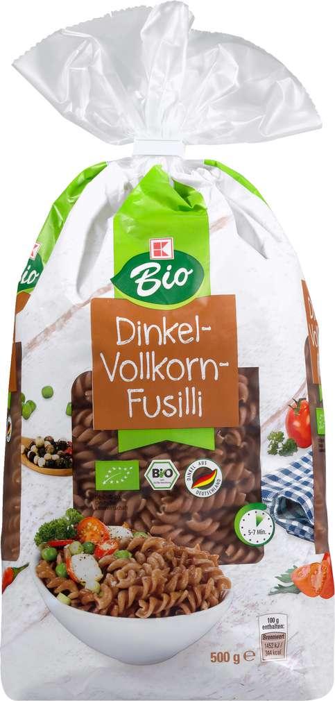 Abbildung des Sortimentsartikels K-Bio K-Bio Bio Dinkel-Vollkorn-Fusilli 500g