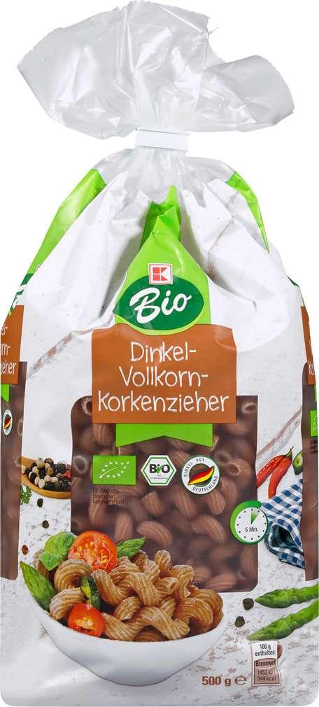 Abbildung des Sortimentsartikels K-Bio K-Bio Dinkel-Vollkorn-Korkenzieher 500g