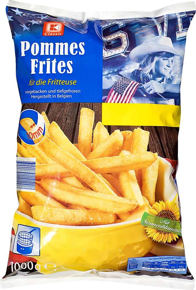 Abbildung des Sortimentsartikels K-Classic Fritteusen Pommes 1kg