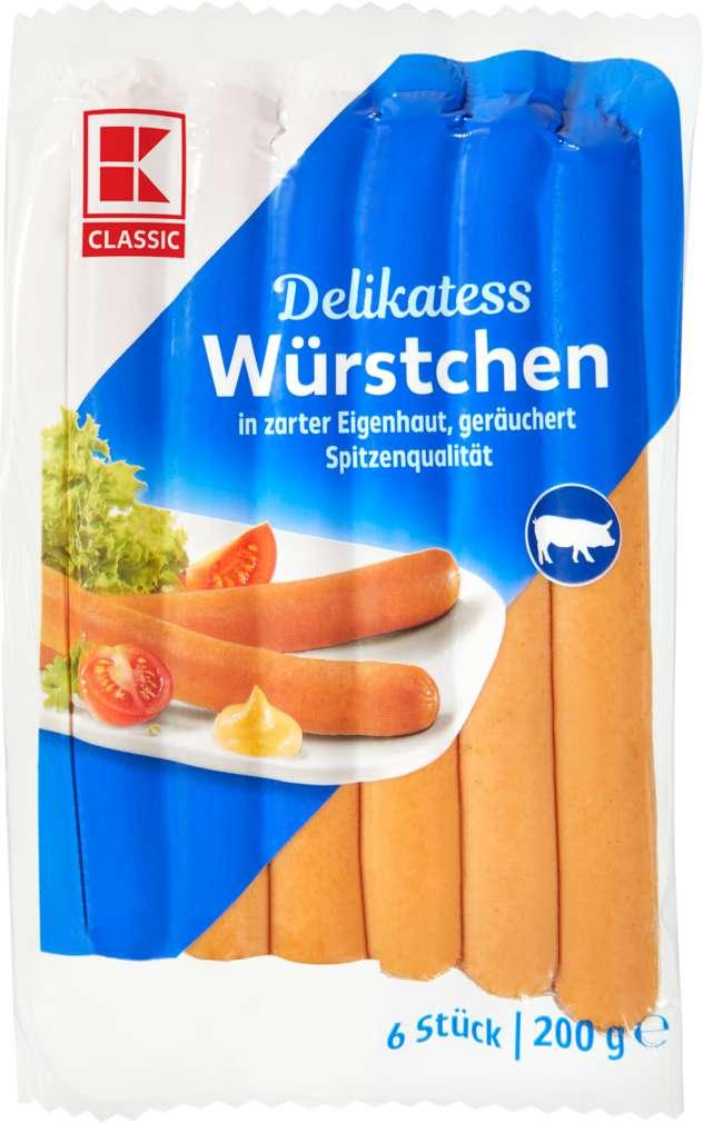 Abbildung des Sortimentsartikels K-Classic Würstchen in zarter Eigenhaut 200g