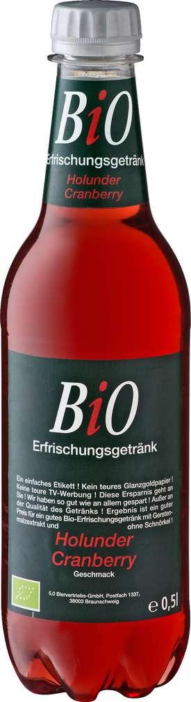 Abbildung des Sortimentsartikels Bio Erfrischungsgetränk Holunder-Cranberry 0,5l