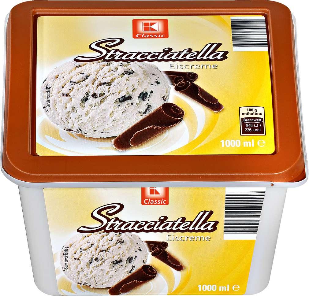 Abbildung des Sortimentsartikels K-Classic Eis Stracciatella 1l