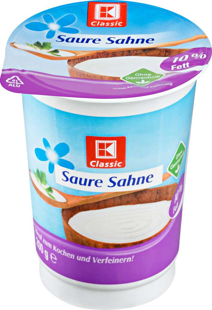Abbildung des Sortimentsartikels K-Classic Saure Sahne 10%Fett 200g