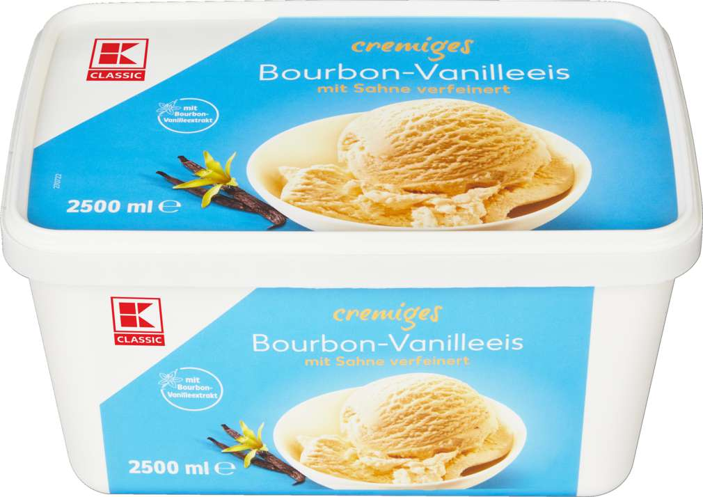 Abbildung des Sortimentsartikels K-Classic Bourbon-Vanille Eis 2500ml