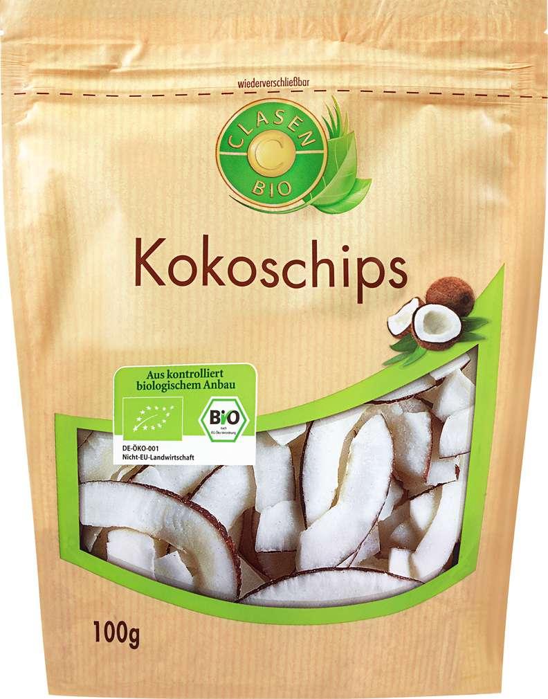 Abbildung des Sortimentsartikels Clasen Bio-Kokoschips vegan 100g