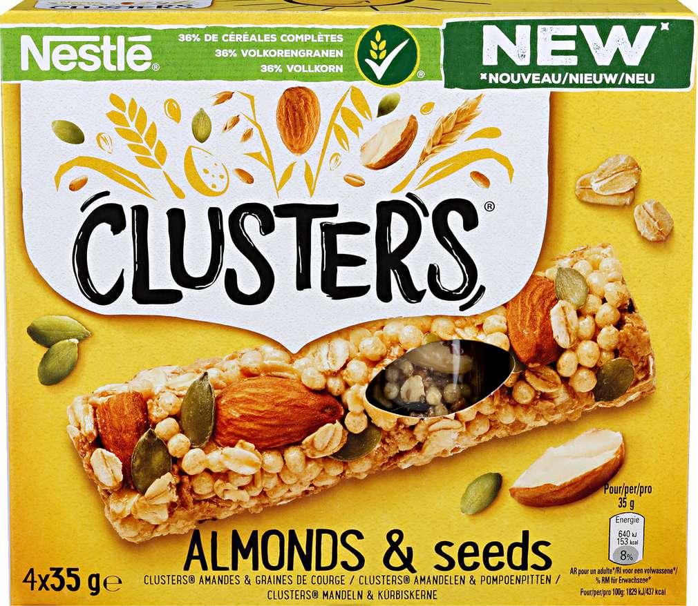 Abbildung des Sortimentsartikels Nestlé Cluster's Almonds & Seeds 4x35g